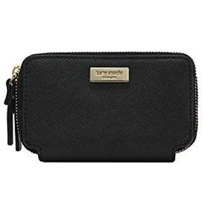 NWT Kate Spade Rosie Double Zip Wallet Blk